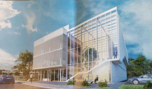 Wizualizacja koncepcyjna  nowych oddziałów TVP, w tym ośrodka w Gdańsku. Ma ona tylko wskazywać kierunki do opracowania przetargu na budowę zunifikowanych ośrodków  TVP.