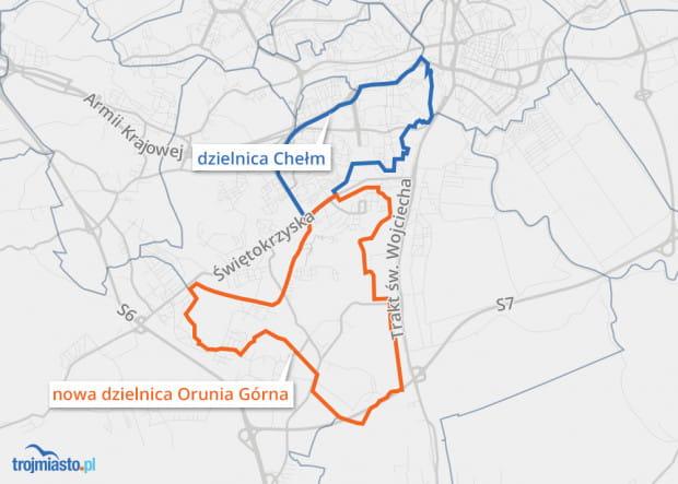 Tak będzie wyglądał podział dzielnicy Chełm.