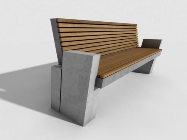 Przy ul. Nowotnej na Stogach pojawi się 6 ławek betonowo-drewnianych.