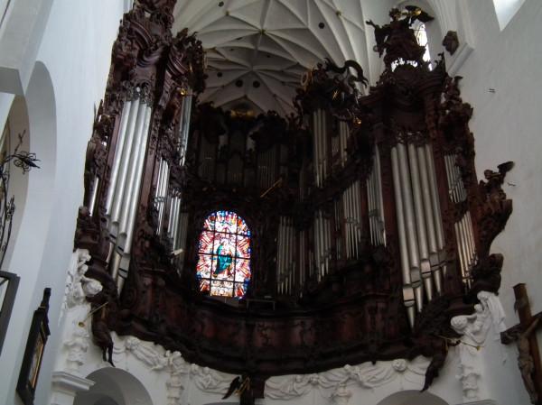 Organy w archikatedrze oliwskiej, których twórcą jest Jan Wulff.