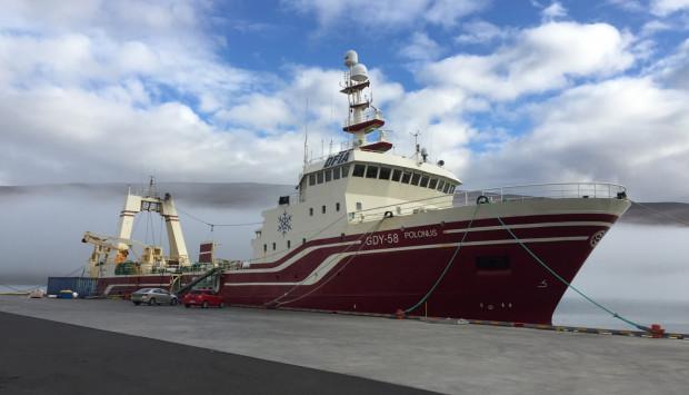 Połowy z trawlera Polonus trafią na rynek UE oraz w małej części na rynek Stanów Zjednoczonych.