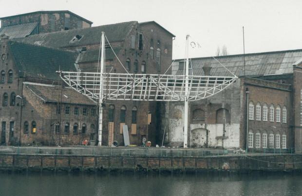 Amfiteatr Filharmonii Bałtyckiej w trakcie budowy.