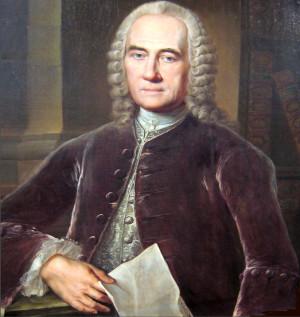 Portret Jakuba Teodora Kleina w kwiecie wieku. Obraz pędzla Jacoba Wessela.