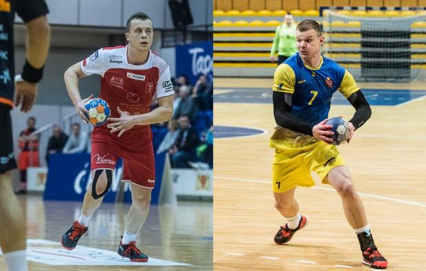 Po dwóch tygodniach przerwy szczypiorniści Wybrzeża i Spójnia wracają na boiska PGNiG Superligi. Na zdjęciu Adrian Kondratiuk (z lewej) i Bogdan Oliferchuk (z prawej).