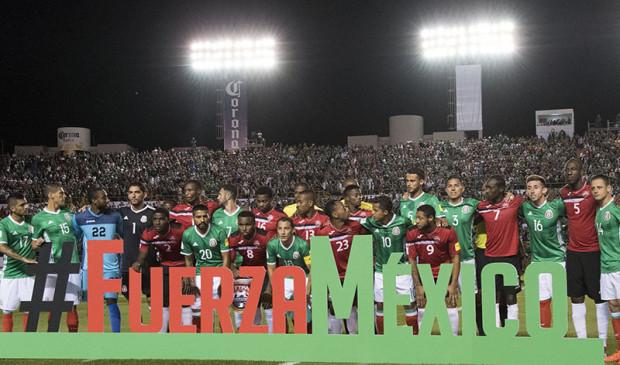 Reprezentacja Meksyku podczas zakończenia eliminacji do mistrzostw świata w ubiegłym miesiącu.