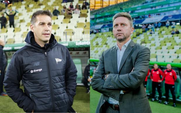 Adam Owen (z lewej) ma za sobą 5 meczów w roli trenera Lechii. Jerzy Brzęczek (z prawej) prowadził biało-zielonych w 30 oficjalnych spotkań, a ponadto w towarzyskich grach mierzył się z zagranicznymi rywalami, z Juventusem Turyn na czele.