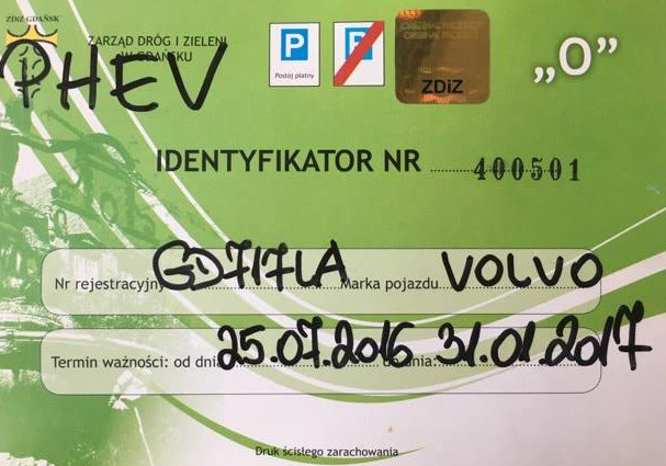 Tak wygląda identyfikator zwalniający z opłat w gdańskiej SPP.