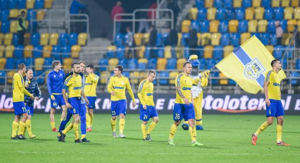 Jarosław Kotas uważa, że piłkarze Arki mogą być zadowoleni ze swojej postawy.