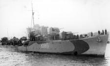 ORP Orkan podczas II wojny światowej.