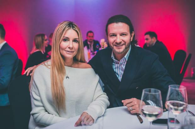 Na sobotniej gali turnieju Amber Cup pojawiły się zarówno gwiazdy sportu, jak i celebryci. Na zdjęciu: Małgorzata Rozenek-Majdan i Radosław Majdan.