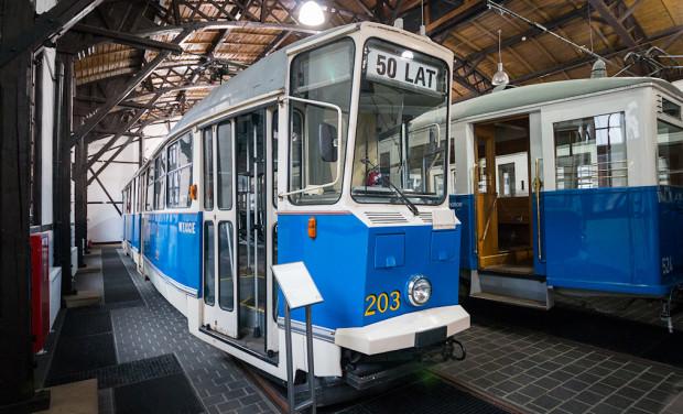 Konstal 102N w zbiorach Muzeum Inżynierii Miejskiej w Krakowie.