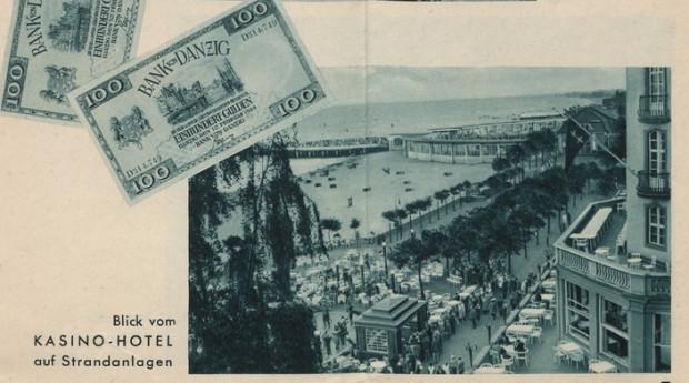 Folder reklamowy sopockiego kasyna, wydany w latach 30. XX wieku.