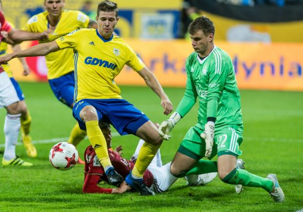 Patryk Kun zdobył gola na 1:0, a Michał Marcjanik (na zdjęciu) trafił na 2:2, a mimo to Arka Gdynia przegrała z Wisłą w Krakowie.