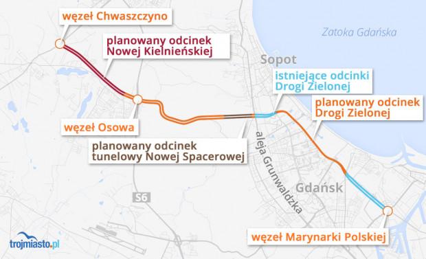 Planowany nowy układ drogowy, który może powstać w najbliższych latach.