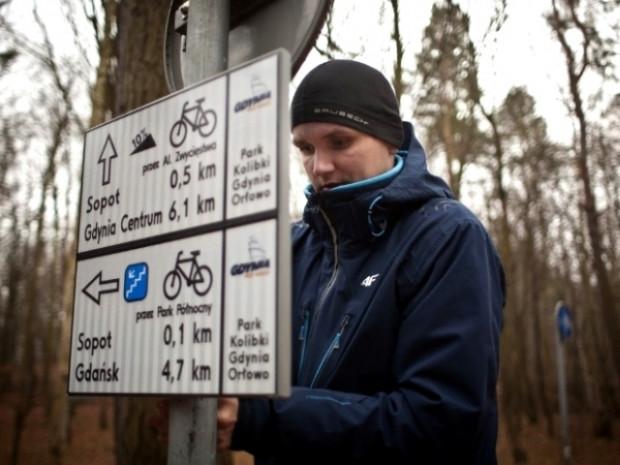 Trasy rowerowe w Orłowie były źle oznaczone od dawna, na co zwracali gubiący się tam rowerzyści.