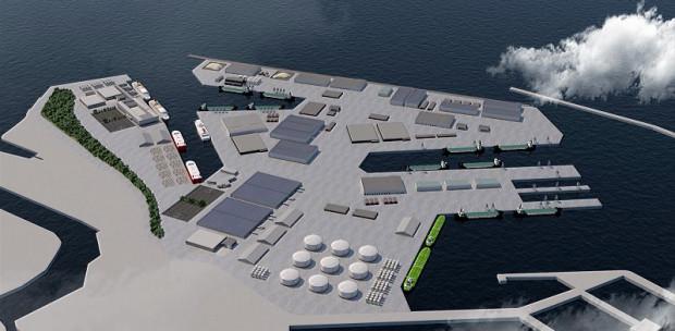 """Czym ma być Port Centralny? Ma on powstać """"na wodzie"""" pomiędzy ujściem kanału portowego a Naftoportem."""