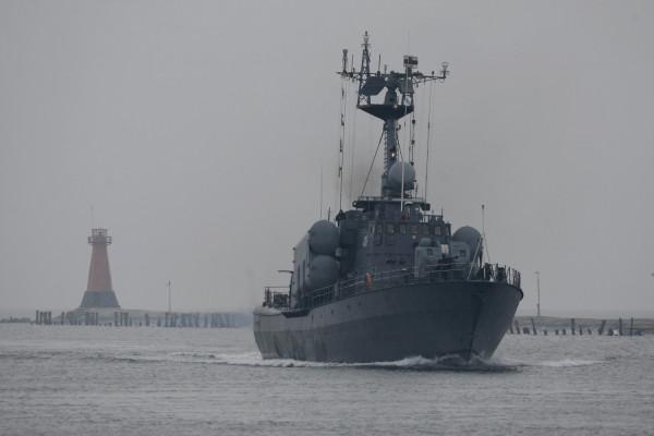 """Okręt rakietowy ORP """"Metalowiec"""" wycofany został ze służby w 2013 r. Obecnie jest własnością Agencji Mienia Wojskowego."""