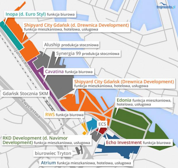 Tereny Stoczni Cesarskiej, dla których koncepcję przygotuje Henning Larsen Architect, należą do spółki Edonia.