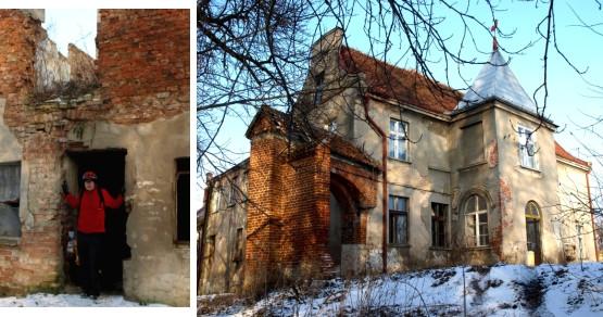 Dzisiejsza forma zamku krzyżackiego w miejscowości Grabiny-Zameczek, na Żuławach Gdańskich.