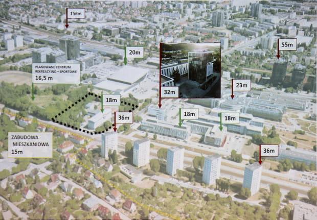 Analiza wysokości w sąsiedztwie terenu objętego przystąpieniem do planu.