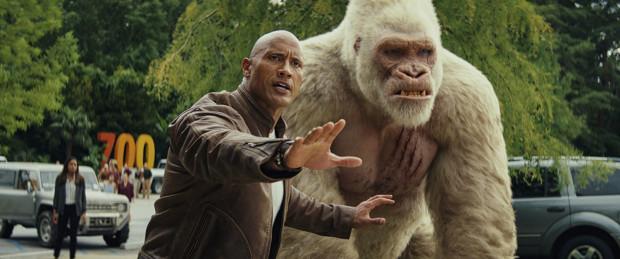 Davis Okoye (Dwayne Johnson) próbuje za wszelką cenę ocalić Chicago przed atakiem trzech zmutowanych, gigantycznych zwierząt. Jednym z nich jest goryl-albinos, George, z którym mężczyznę łączy więź przyjaźni i wzajemnego szacunku. Okoye gra więc o podwójną stawkę.