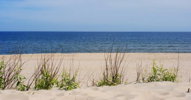 Plaża w Sobieszewie.