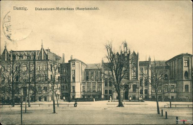 Dawny szpital sióstr Diakonisek. Obecnie w miejscu budynku znajduje się szpital wojewódzki. Fotografia z początku lat 20. XX wieku.