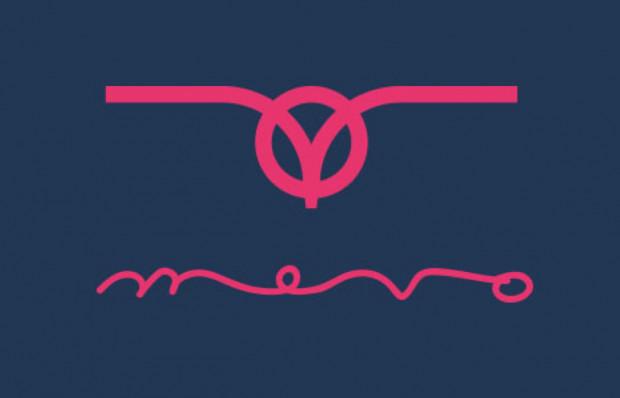 Forma znaku graficznego nr 2w wyraźny sposób odnosi się do estetyki miejskiego vintage, jednocześnie zachowując konstrukcję charakterystyczną dla współczesnego obrazowania. Prostota połączona z nieprzemijającą elegancją. Oczywiste nawiązanie do frontalnego obrazu kierownicy roweru jednocześnie jest kształtem widzianej z przodu lecącej mewy. Całość w kolorystyce odnoszącej się do morskich skojarzeń z mocną dominantą złamanego różu
