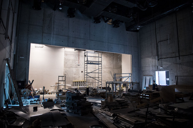 Sala audiowizualna z widownią na około 180 miejsc, która obecnie jest placem budowy, będzie umożliwiała różne konfiguracje sceny i widowni. Tu odbywać się będą projekcje filmowe, wykłady, seminaria czy koncerty.