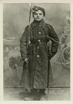 Stefan Wesołowski w wieku 9 lat.