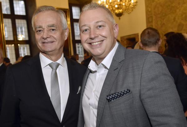 Andrzej Bojanowski (z prawej) przeniesie się z Areny Gdańsk do spółki MTG, której został nowym szefem.