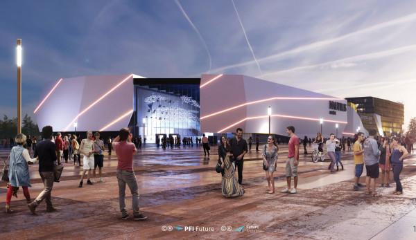 Projekt oceanarium, które ma powstać przy stadionie w Gdańsku.