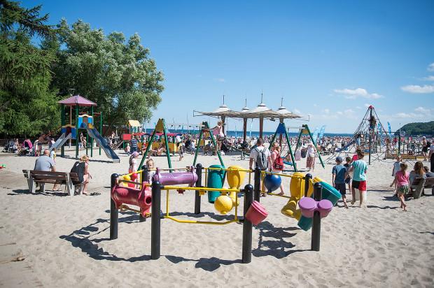 Plac zabaw   plaża miejska w Gdyni