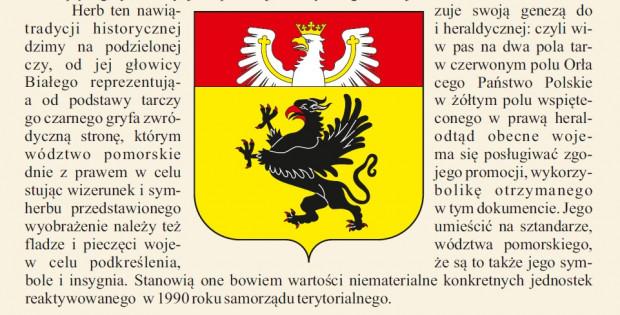 Proponowany przez dr Jerzego Michtę nowy herb województwa pomorskiego.
