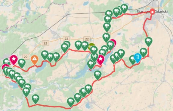Kliknij na mapę i prześledź przebieg trasy / ściągnij ślad GPS
