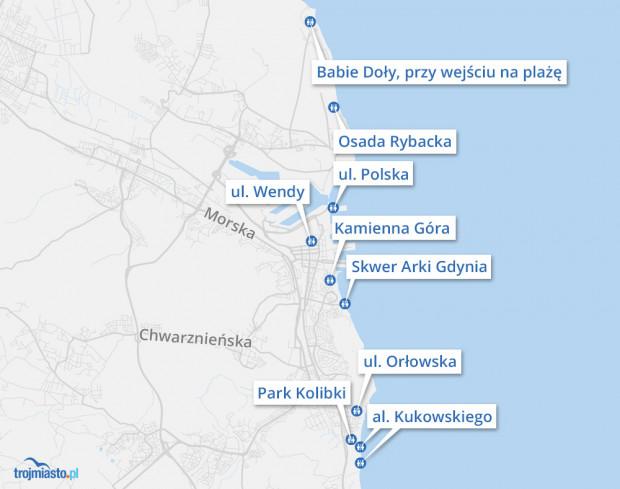W Gdyni mieszkańcy i turyści bezpłatnie mogą korzystać z ustawianych w sezonie letnim - od 1.06 do 30.09 - kabin sanitarnych.