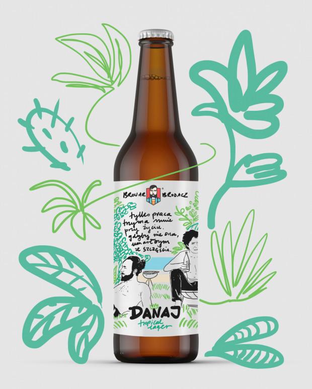 Piwo z etykietą autorstwa Magdy Danaj.