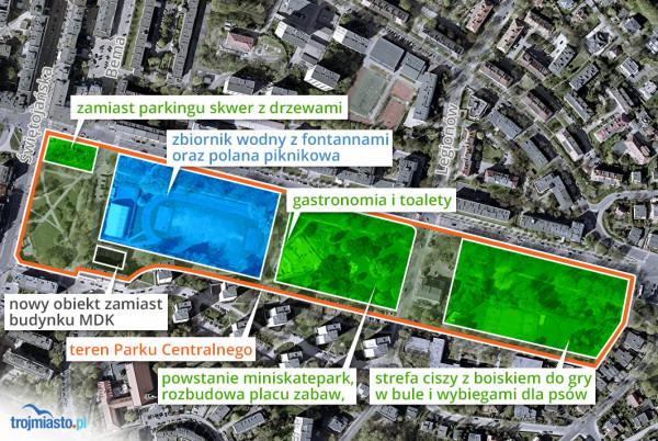 Zmiany w parku przy al. Piłsudskiego planowane przez władze Gdyni.