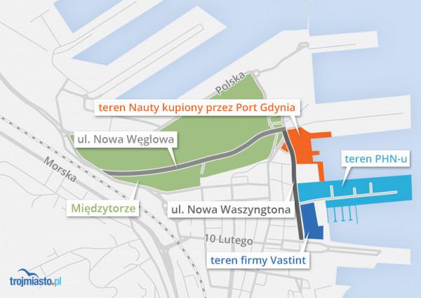 Sytuacja własnościowa na nadmorskich terenach Gdyni.