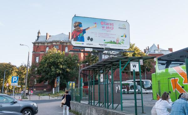 Nośnik reklamowy firmy Cityboard Media przy dworcu PKS w Gdańsku, która dąży do unieważnienia uchwały krajobrazowej w Gdańsku i przypuszczalnie Sopocie.