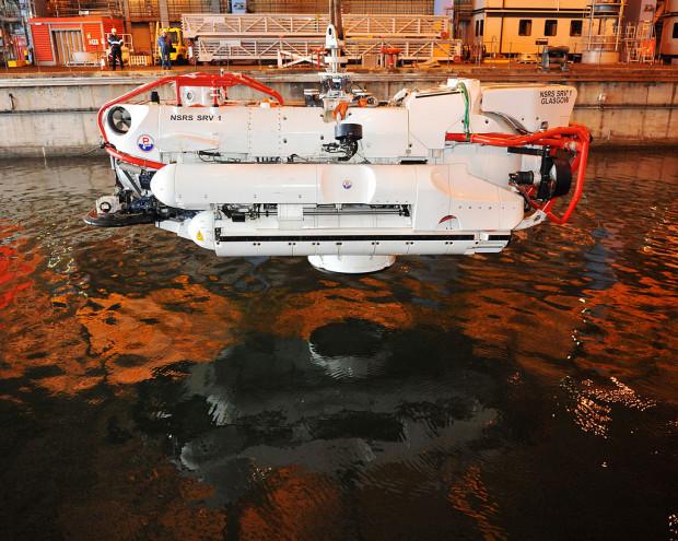 Podwodny okręt ratunkowy działający w oparciu o natowski systemie NSRS.
