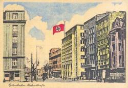 Ulica Portowa podczas niemieckiej okupacji Gdyni.