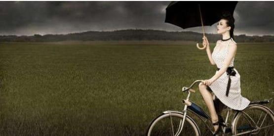 Jazda na rowerze bardzo pozytywnie wpływa na samopoczucie, ...nie tylko zresztą u kobiet.