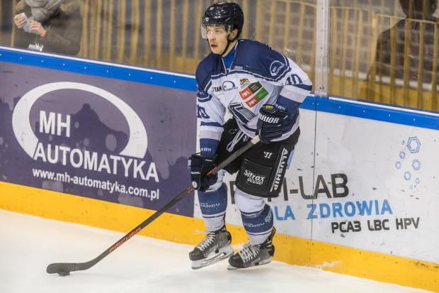 Jakub Stasiewicz zdobył w Krakowie dla MH Automatyki honorowe trafienie.
