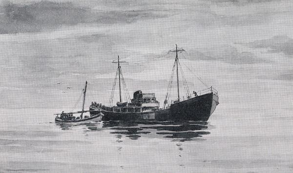 Seawolf u burty współpracującego z nim HMS Taran.