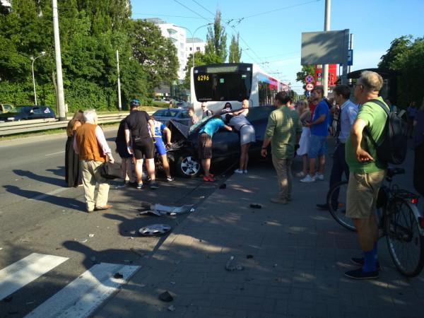 W tym roku doszło do bardzo groźnego wypadku na skrzyżowaniu ul. Stryjskiej i al. Zwycięstwa.