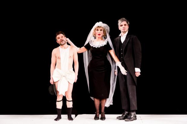 """Przedstawienie """"Jakobi i Leidental"""" Teatru Powszechnego w Warszawie zagrane zostanie 6 listopada w Nowej Scenie Teatru Muzycznego w Gdyni."""
