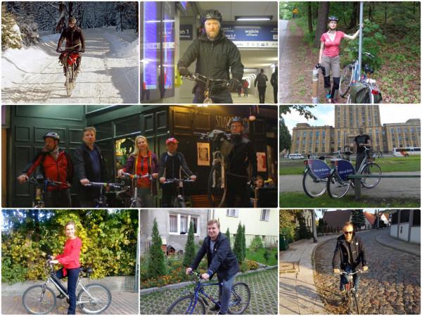 """Komitet wyborczy """"Lepszy Gdańsk"""" na rowerach."""