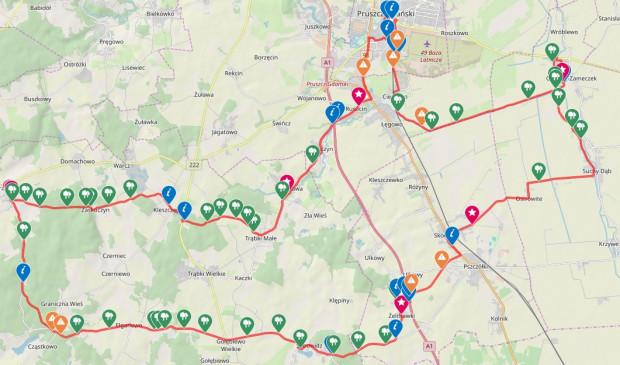 Kliknij na mapę i prześledź przebieg szlaku / ściągnij ślad GPS