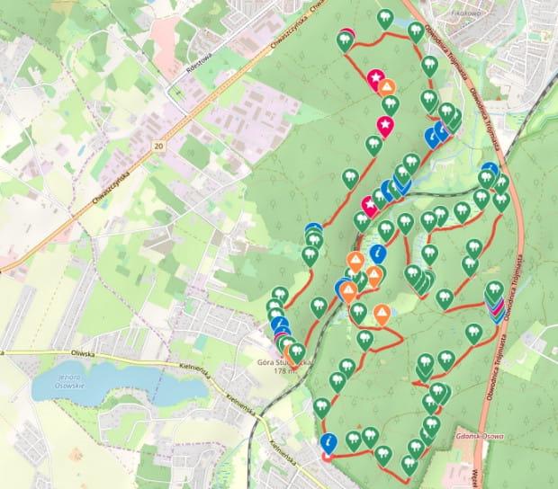 Kliknij na mapę i prześledź jej przebieg / ściągnij ślad GPS